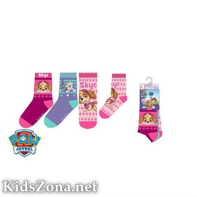 Детски чорапи Paw Patrol girls 3бр. - М2