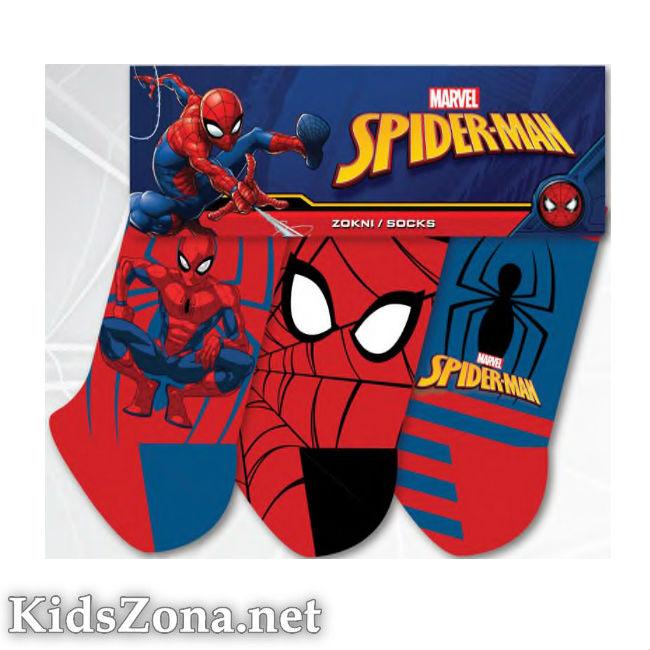 Детски чорапи Spiderman 3бр. - М1