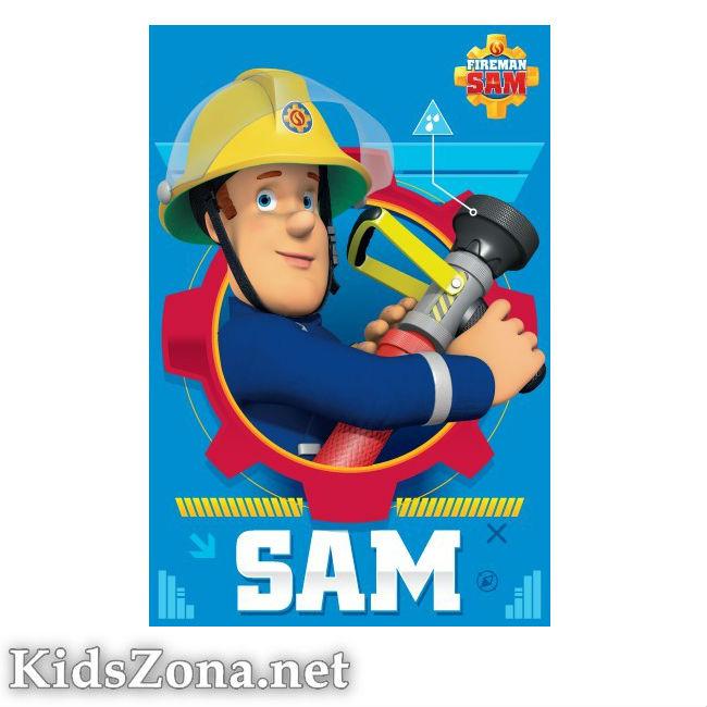 Детско одеяло Fireman Sam полар - М1