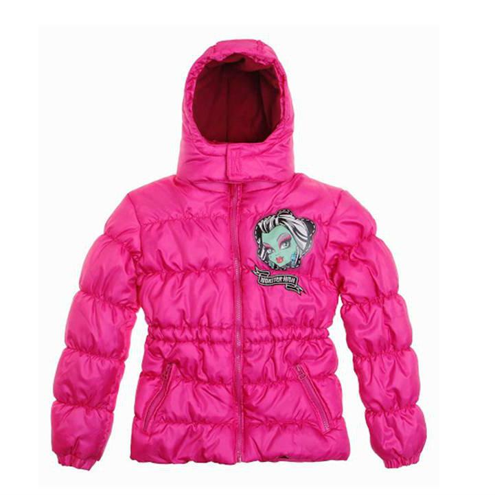 Детско зимно яке Monster high - розово