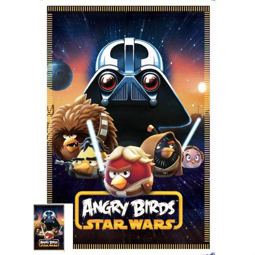 Детско одеяло Angry Birds Star Wars полар