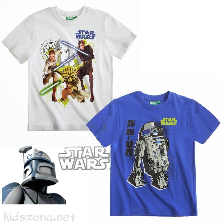 Детска тениска Star Wars - лот 2 бр.