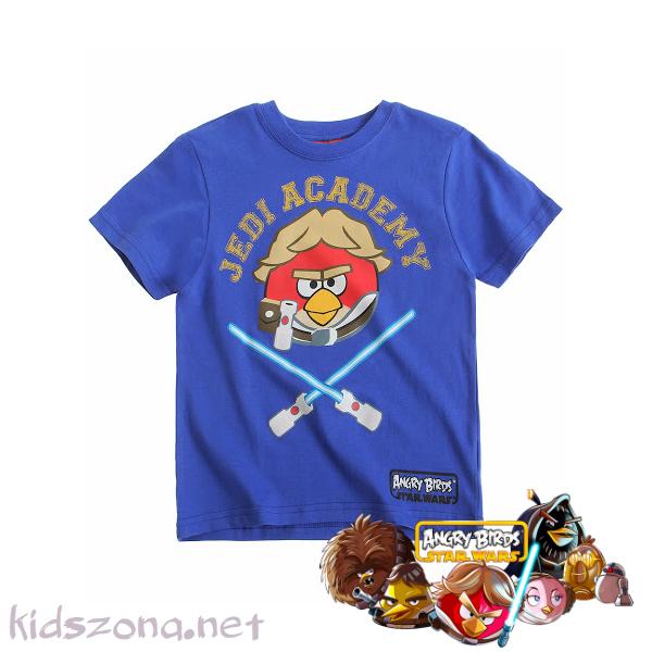 Детска тениска Angry birds star wars
